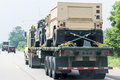 Military vehicles on the road