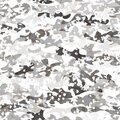 Military winter woodland white camouflage seamless pattern, vector illustration Royalty Free Stock Photo