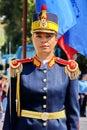 Military Woman in Romania Royalty Free Stock Photo