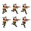 Militia Running Sprite