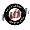 Milk Allergy rubber stamp