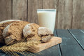 Milk and bakery products Royalty Free Stock Photo