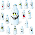 Milk bottle drawings Stock Image