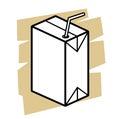 Milk box vector black icon on white Royalty Free Stock Photos
