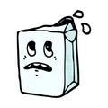 Milk carton cartoon character Royalty Free Stock Photos