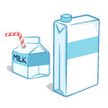 Milk carton vector illustration of two Stock Photography