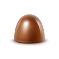 Milk Chocolate Candy on White Background