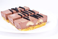 Milk chocolate dessert Royalty Free Stock Photography
