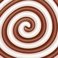 Milk and chocolate swirls. Royalty Free Stock Photo