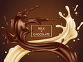 Milk and chocolate twisted