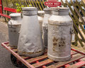Milk churns Royalty Free Stock Photo