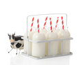 Milk Crate With Cow Stock Photo