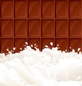 Milk and dark Chocolate Stock Photo