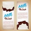 Milk flyer design vector illustration with milk splash