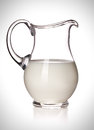 Milk in a glass pitcher Royalty Free Stock Photography