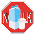 Milk intolerance Stock Photo