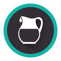 Milk jar isolated icon