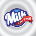 Milk label lettering vector Royalty Free Stock Image