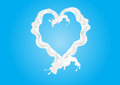 Milk love heart Royalty Free Stock Photo