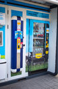 Milk machine poznan poland march automatic serving straight from the cow Royalty Free Stock Images
