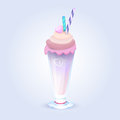 Milk shake Royalty Free Stock Image