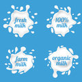 Milk splash labels vector design, shape creative illustration Royalty Free Stock Photo