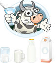 Milk symbols Stock Images