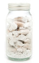 Milk toffee chewy in mason jar Royalty Free Stock Photo