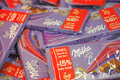 Milka lots of chocolate bars Stock Photos