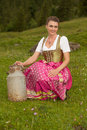Milkmaid from the Alps Royalty Free Stock Images