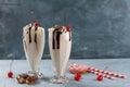 Milkshake (smoothie) Royalty Free Stock Photo
