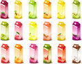 Milky products with fruit Stock Photography