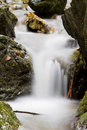 Milky waterfall Royalty Free Stock Photography