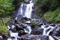 Milky waterfall near Ritsa lake
