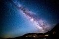 Milky way above Transalpina pass Royalty Free Stock Photo
