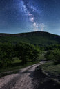 Milky Way. Beautiful night sky with stars Royalty Free Stock Photo