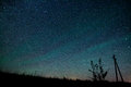 Milky Way. Beautiful summer night sky with stars Royalty Free Stock Photo