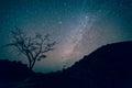 Milky Way Galaxy, Night Sky with Amazing Stars. Royalty Free Stock Photo