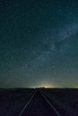 The Milky Way over a Northern Texas highway