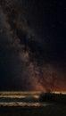 Milky Way over the sea Royalty Free Stock Photo