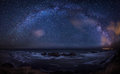 Milky Way over the sea Royalty Free Stock Photo