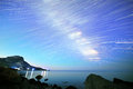 Milky Way. Stars in the form of lines. South Crimea. From Time L Royalty Free Stock Photo