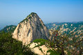 Milky white peak landscape the image taken in chinas shanxi province xian city huashan scenic spot time is in at the beginning of Royalty Free Stock Photography
