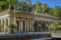 Mill colonnade karlovy vary the is a large containing several hot springs in the spa town of the is Royalty Free Stock Image