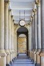 Mill colonnade (Mlynska kolonada) in Karlovy Vary, Czech Republi Royalty Free Stock Photo