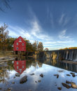 Mill on a Dam Royalty Free Stock Photography