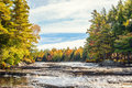 Mill falls in fall Royalty Free Stock Photo