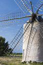 Mill in formentera typical balearic islands spain Stock Photos