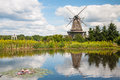 Mill in summer day Royalty Free Stock Photo