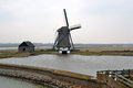 Mill on texel along the lancaster deen netherlands Stock Photo